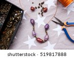 assembly of jewelry of polymer... | Shutterstock . vector #519817888