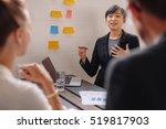 asian businesswoman explaining... | Shutterstock . vector #519817903