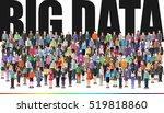 people forming huge crowd  big... | Shutterstock .eps vector #519818860