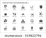 various it outsourcing and... | Shutterstock .eps vector #519822796