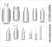 medical vials on a white... | Shutterstock .eps vector #519823006