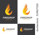 fire flame icon in a shape of... | Shutterstock .eps vector #519827320