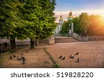 pigeons on different sides of... | Shutterstock . vector #519828220