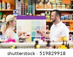 young man and woman picking... | Shutterstock . vector #519829918