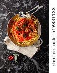tasty pasta spaghetti with... | Shutterstock . vector #519831133