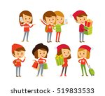 people at christmas style  | Shutterstock .eps vector #519833533