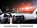drivers hands on the steering...   Shutterstock . vector #519834289
