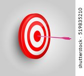 vector target and arrow. arrow... | Shutterstock .eps vector #519835210