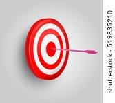 vector target and arrow. arrow... | Shutterstock .eps vector #519835210