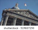 facade of the pantheon in paris | Shutterstock . vector #519837250
