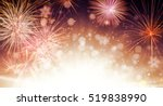 abstract blur colored firework... | Shutterstock . vector #519838990