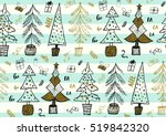 vector seamless pattern with... | Shutterstock .eps vector #519842320