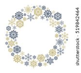 vector snowflake wreath.  snow... | Shutterstock .eps vector #519842464