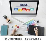 creative ideas icon boxes... | Shutterstock . vector #519843658