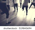 diversity people exercise class ... | Shutterstock . vector #519843694