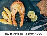 Grilled Salmon With Lemon On...