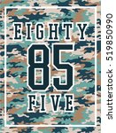 sporty camouflage print with... | Shutterstock .eps vector #519850990