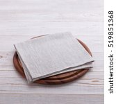 napkin on table in perspective. ... | Shutterstock . vector #519851368