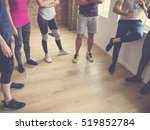 diversity people exercise class ... | Shutterstock . vector #519852784