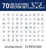 vector set of flat graphic icon ... | Shutterstock .eps vector #519853180