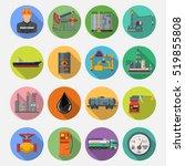 oil industry extraction...   Shutterstock .eps vector #519855808