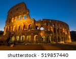 view of the golden colosseum at ...   Shutterstock . vector #519857440