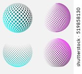 halftone spheres. vector. logo... | Shutterstock .eps vector #519858130
