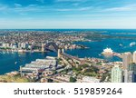 sydney harbour at sunset  nsw ... | Shutterstock . vector #519859264