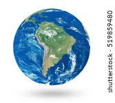 view on south america. earth... | Shutterstock . vector #519859480