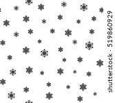snowflake simple seamless... | Shutterstock .eps vector #519860929