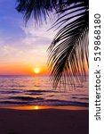 Sunset Landscape. Beach Sunset...