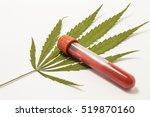laboratory test tube or bottle...   Shutterstock . vector #519870160