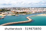 aerial from the city lagos in...   Shutterstock . vector #519870850