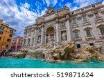 rome trevi fountain  fontana di ... | Shutterstock . vector #519871624
