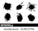 ink blot grunge splash vector... | Shutterstock .eps vector #519872794