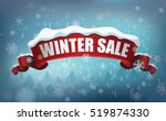 winter sale background with... | Shutterstock .eps vector #519874330