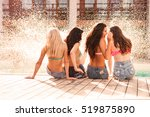 back view of pretty young sexy... | Shutterstock . vector #519875890