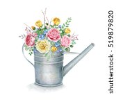 Watercolor Gardening Watering...