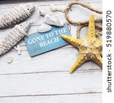 gone to the beach summer... | Shutterstock . vector #519880570