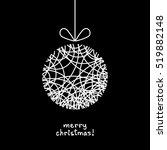 christmas doodle ball. cute... | Shutterstock . vector #519882148