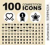 simple set of competitions... | Shutterstock .eps vector #519894214