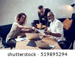 concept of presentation new... | Shutterstock . vector #519895294