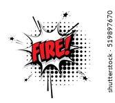 lettering fire  work  job.... | Shutterstock .eps vector #519897670