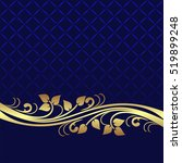 navy blue background decorated...