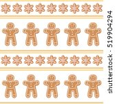 christmas gingerbread seamless... | Shutterstock .eps vector #519904294