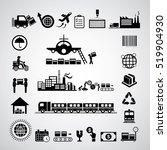 vector logistics export icon... | Shutterstock .eps vector #519904930