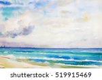 Watercolor Seascape  Original ...