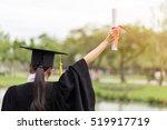 back of view graduate put her...   Shutterstock . vector #519917719