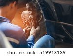 selective focus disc brake on... | Shutterstock . vector #519918139