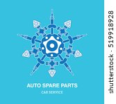 car spare parts snowflake logo... | Shutterstock .eps vector #519918928